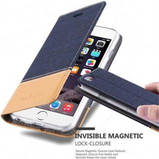 Cadorabo Hülle für Apple iPhone 6 / iPhone 6S in DUNKEL BLAU BRAUN - Handyhülle mit Magnetverschluss, Standfunktion und Kartenfach - Case Cover Schutzhülle Etui Tasche Book Klapp Style