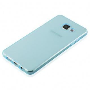 Cadorabo Hülle für Samsung Galaxy A3 2016 in TRANSPARENT BLAU - Handyhülle aus flexiblem TPU Silikon - Silikonhülle Schutzhülle Ultra Slim Soft Back Cover Case Bumper - Vorschau 3