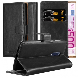 Cadorabo Hülle für Nokia 8 2017 in GRAPHIT SCHWARZ - Handyhülle mit Magnetverschluss, Standfunktion und Kartenfach - Case Cover Schutzhülle Etui Tasche Book Klapp Style