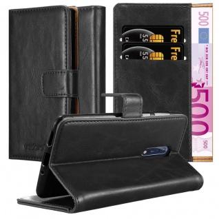 Cadorabo Hülle für Nokia 8 2017 in GRAPHIT SCHWARZ Handyhülle mit Magnetverschluss, Standfunktion und Kartenfach Case Cover Schutzhülle Etui Tasche Book Klapp Style