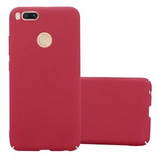 Cadorabo Hülle für Xiaomi Mi A1 / 5X in FROSTY ROT Hardcase Handyhülle aus Plastik gegen Kratzer und Stöße Schutzhülle Bumper Ultra Slim Back Case Hard Cover