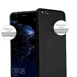 Cadorabo Hülle für Huawei P10 LITE in METALL SCHWARZ - Hardcase Handyhülle aus Plastik gegen Kratzer und Stöße - Schutzhülle Bumper Ultra Slim Back Case Hard Cover - Vorschau 2