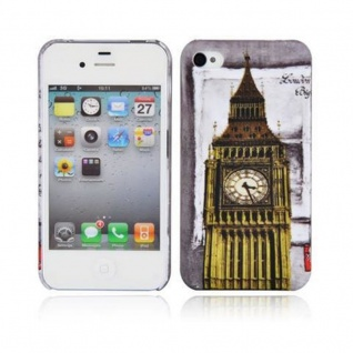 Cadorabo - Hard Cover für Apple iPhone 4 / iPhone 4S - Case Cover Schutzhülle Bumper im Design: LONDON - BIG BEN