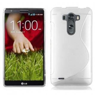 Cadorabo ! PREMIUM - Silikon TPU Schutzhülle im S-Line Design für LG G3 MINI in HALB-TRANSPARENT
