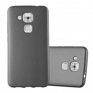 Cadorabo Hülle für Huawei NOVA PLUS - Hülle in METALLIC GRAU ? Handyhülle aus TPU Silikon im Matt Metallic Design - Ultra Slim Soft Backcover Case Bumper