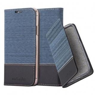Cadorabo Hülle für Apple iPhone X / XS in DUNKEL BLAU SCHWARZ - Handyhülle mit Magnetverschluss, Standfunktion und Kartenfach - Case Cover Schutzhülle Etui Tasche Book Klapp Style