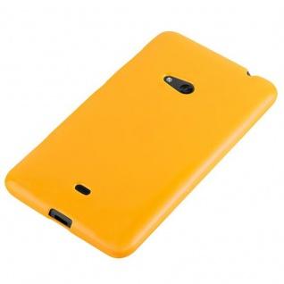 Cadorabo Hülle für Nokia Lumia 625 in JELLY GELB - Handyhülle aus flexiblem TPU Silikon - Silikonhülle Schutzhülle Ultra Slim Soft Back Cover Case Bumper - Vorschau 3