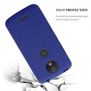 Cadorabo Hülle für Motorola MOTO C PLUS in FROST DUNKEL BLAU - Handyhülle aus flexiblem TPU Silikon - Silikonhülle Schutzhülle Ultra Slim Soft Back Cover Case Bumper - Vorschau 3
