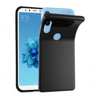 Cadorabo Hülle für Xiaomi Mi A2 / 6X in SCHWARZ - Handyhülle aus flexiblem TPU Silikon - Silikonhülle Schutzhülle Ultra Slim Soft Back Cover Case Bumper