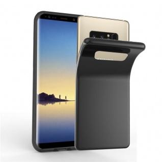 Cadorabo Hülle für Samsung Galaxy NOTE 8 in SCHWARZ - Handyhülle aus flexiblem TPU Silikon - Silikonhülle Schutzhülle Ultra Slim Soft Back Cover Case Bumper
