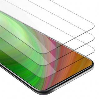 Cadorabo 3x Panzer Folie für Samsung Galaxy A80 / A90 - Schutzfolie in KRISTALL KLAR - 3er Pack Gehärtetes (Tempered) Display-Schutzglas in 9H Härte mit 3D Touch Kompatibilität