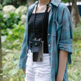 Cadorabo Handy Kette für Huawei P20 in SCHWARZ ? Silikon Necklace Umhänge Hülle mit Gold Ringen, Kordel Band Schnur und abnehmbarem Etui ? Schutzhülle - Vorschau 5