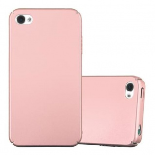 Cadorabo Hülle für Apple iPhone 4 / iPhone 4S in METALL ROSE GOLD ? Hardcase Handyhülle aus Plastik gegen Kratzer und Stöße ? Schutzhülle Bumper Ultra Slim Back Case Hard Cover