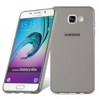 Cadorabo Hülle für Samsung Galaxy A5 2016 in TRANSPARENT SCHWARZ - Handyhülle aus flexiblem TPU Silikon - Silikonhülle Schutzhülle Ultra Slim Soft Back Cover Case Bumper - Vorschau 2