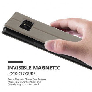Cadorabo Hülle für Samsung Galaxy NOTE 8 in STEIN BRAUN - Handyhülle mit Magnetverschluss, Standfunktion und 2 Sichtfenstern - Case Cover Schutzhülle Etui Tasche Book Klapp Style - Vorschau 5