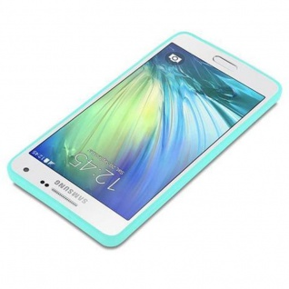 Cadorabo Hülle für Samsung Galaxy A5 2015 in CANDY BLAU - Handyhülle aus flexiblem TPU Silikon - Silikonhülle Schutzhülle Ultra Slim Soft Back Cover Case Bumper - Vorschau 3