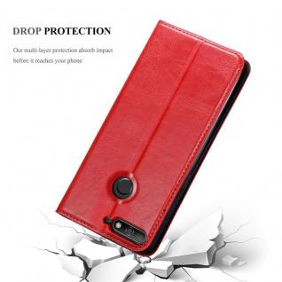 Cadorabo Hülle für Huawei Y6 PRIME in APFEL ROT Handyhülle mit Magnetverschluss, Standfunktion und Kartenfach Case Cover Schutzhülle Etui Tasche Book Klapp Style - Vorschau 5
