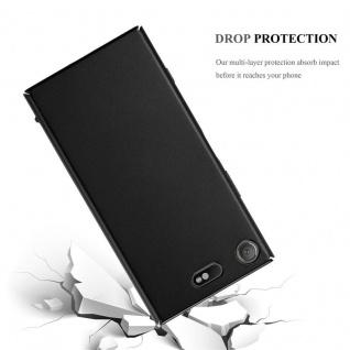 Cadorabo Hülle für Sony Xperia XZ1 Compact in METALL SCHWARZ - Hardcase Handyhülle aus Plastik gegen Kratzer und Stöße - Schutzhülle Bumper Ultra Slim Back Case Hard Cover - Vorschau 3