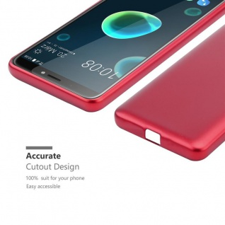 Cadorabo Hülle für HTC Desire 12 PLUS in METALLIC ROT - Handyhülle aus flexiblem TPU Silikon - Silikonhülle Schutzhülle Ultra Slim Soft Back Cover Case Bumper - Vorschau 5