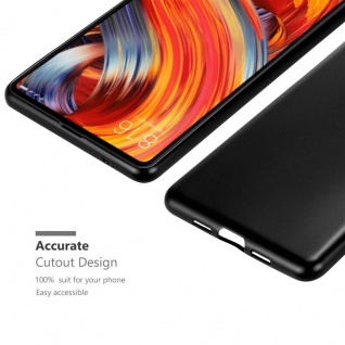 Cadorabo Hülle für Xiaomi Mi Mix 2 in METALLIC SCHWARZ - Handyhülle aus flexiblem TPU Silikon - Silikonhülle Schutzhülle Ultra Slim Soft Back Cover Case Bumper - Vorschau 5
