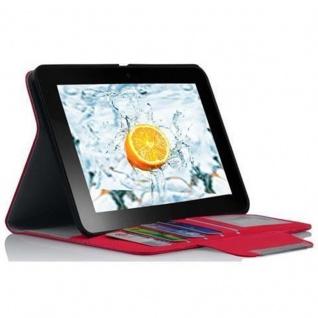 """Cadorabo Hülle für Kindle Fire HD (7, 0"""" Zoll) - Hülle in FUCHSIA PINK ? Schutzhülle mit Standfunktion und Kartenfach - Book Style Etui Bumper Case Cover - Vorschau 3"""