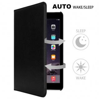 Cadorabo Tablet Hülle für Apple iPad AIR 2 2014 / iPad AIR 2013 in HOLUNDER SCHWARZ Book Style Schutzhülle mit Auto Wake Up mit Standfunktion und Gummiband Verschluss - Vorschau 3