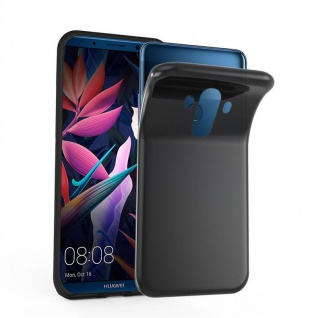 Cadorabo Hülle für Huawei MATE 10 PRO in SCHWARZ - Handyhülle aus flexiblem TPU Silikon - Silikonhülle Schutzhülle Ultra Slim Soft Back Cover Case Bumper