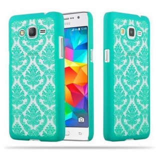 Samsung Galaxy GRAND PRIME Hardcase Hülle in GRÜN von Cadorabo - Blumen Paisley Henna Design Schutzhülle ? Handyhülle Bumper Back Case Cover