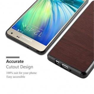 Cadorabo Hülle für Samsung Galaxy A3 2015 in WOODEN KAFFEE - Handyhülle aus flexiblem TPU Silikon - Silikonhülle Schutzhülle Ultra Slim Soft Back Cover Case Bumper - Vorschau 5