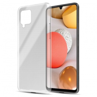 Cadorabo Hülle kompatibel mit Samsung Galaxy A42 in VOLL TRANSPARENT Handyhülle aus flexiblem TPU Silikon Silikonhülle Schutzhülle Ultra Slim Soft Back Cover Case Bumper