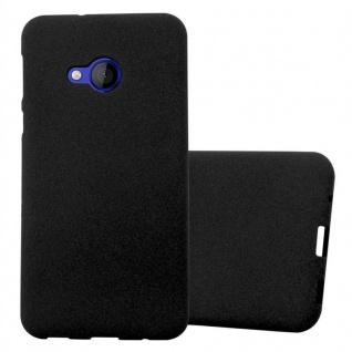 Cadorabo Hülle für HTC U PLAY in FROST SCHWARZ - Handyhülle aus flexiblem TPU Silikon - Silikonhülle Schutzhülle Ultra Slim Soft Back Cover Case Bumper