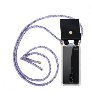Cadorabo Handy Kette für LG K10 2017 in UNICORN Silikon Necklace Umhänge Hülle mit Gold Ringen, Kordel Band Schnur und abnehmbarem Etui Schutzhülle