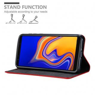 Cadorabo Hülle für Samsung Galaxy A6S in APFEL ROT Handyhülle mit Magnetverschluss, Standfunktion und Kartenfach Case Cover Schutzhülle Etui Tasche Book Klapp Style - Vorschau 4