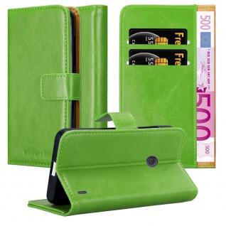 Cadorabo Hülle für Nokia Lumia 520 in GRAS GRÜN Handyhülle mit Magnetverschluss, Standfunktion und Kartenfach Case Cover Schutzhülle Etui Tasche Book Klapp Style