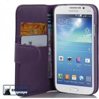 Cadorabo Hülle für Samsung Galaxy MEGA 5.8 in FLIEDER VIOLETT ? Handyhülle aus glattem Kunstleder mit Standfunktion und Kartenfach ? Case Cover Schutzhülle Etui Tasche Book Klapp Style