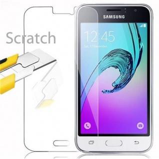 Cadorabo Panzer Folie für Samsung Galaxy J1 2016 - Schutzfolie in KRISTALL KLAR - Gehärtetes (Tempered) Display-Schutzglas in 9H Härte mit 3D Touch Kompatibilität - Vorschau 2