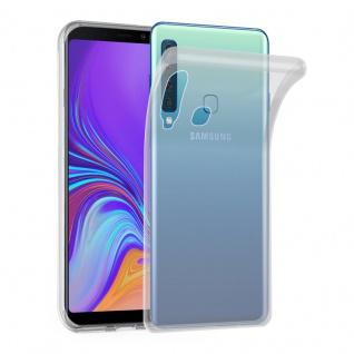 Cadorabo Hülle für Samsung Galaxy A9 2018 in VOLL TRANSPARENT - Handyhülle aus flexiblem TPU Silikon - Silikonhülle Schutzhülle Ultra Slim Soft Back Cover Case Bumper