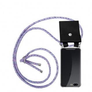 Cadorabo Handy Kette für OnePlus 5 in UNICORN Silikon Necklace Umhänge Hülle mit Silber Ringen, Kordel Band Schnur und abnehmbarem Etui Schutzhülle