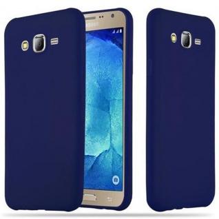 Cadorabo Hülle für Samsung Galaxy J7 2015 in CANDY DUNKEL BLAU Handyhülle aus flexiblem TPU Silikon Silikonhülle Schutzhülle Ultra Slim Soft Back Cover Case Bumper