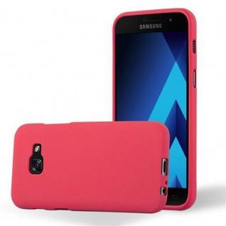 Cadorabo Hülle für Samsung Galaxy A3 2017 in FROST ROT - Handyhülle aus flexiblem TPU Silikon - Silikonhülle Schutzhülle Ultra Slim Soft Back Cover Case Bumper