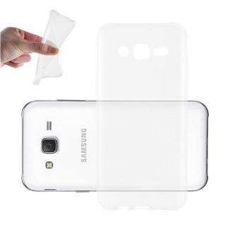 Cadorabo Hülle für Samsung Galaxy J3 2015 in VOLL TRANSPARENT - Handyhülle aus flexiblem TPU Silikon - Silikonhülle Schutzhülle Ultra Slim Soft Back Cover Case Bumper