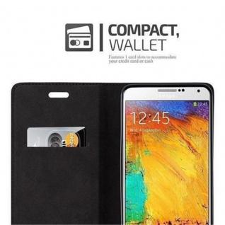 Cadorabo Hülle für Samsung Galaxy NOTE 3 in NACHT SCHWARZ - Handyhülle mit Magnetverschluss, Standfunktion und Kartenfach - Case Cover Schutzhülle Etui Tasche Book Klapp Style - Vorschau 3