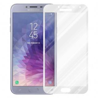 Cadorabo Vollbild Panzer Folie für Samsung Galaxy J4 2018 - Schutzfolie in TRANSPARENT mit WEISS - Gehärtetes (Tempered) Display-Schutzglas in 9H Härte mit 3D Touch Kompatibilität - Vorschau 2