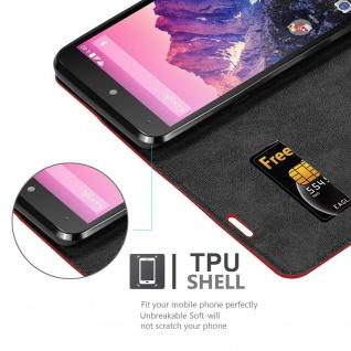 Cadorabo Hülle für LG NEXUS 5 in APFEL ROT Handyhülle mit Magnetverschluss, Standfunktion und Kartenfach Case Cover Schutzhülle Etui Tasche Book Klapp Style - Vorschau 4