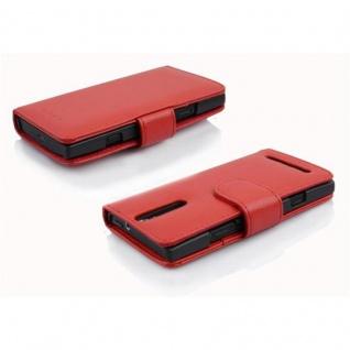 Cadorabo Hülle für Sony Xperia S in INFERNO ROT - Handyhülle aus strukturiertem Kunstleder mit Standfunktion und Kartenfach - Case Cover Schutzhülle Etui Tasche Book Klapp Style - Vorschau 3