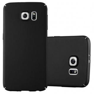 Cadorabo Hülle für Samsung Galaxy S6 in METALL SCHWARZ Hardcase Handyhülle aus Plastik gegen Kratzer und Stöße Schutzhülle Bumper Ultra Slim Back Case Hard Cover