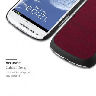 Cadorabo Hülle für Samsung Galaxy S3 MINI in WOODY ROT - Hardcase Handyhülle aus Plastik gegen Kratzer und Stöße - Schutzhülle Bumper Ultra Slim Back Case Hard Cover - Vorschau 2