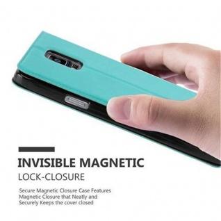 Cadorabo Hülle für Samsung Galaxy NOTE 4 in MINT TÜRKIS - Handyhülle mit Magnetverschluss, Standfunktion und 2 Sichtfenstern - Case Cover Schutzhülle Etui Tasche Book Klapp Style - Vorschau 5