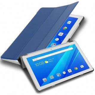 """Cadorabo Tablet Hülle für Lenovo Tab 4 10 (10, 1"""" Zoll) in JERSEY DUNKEL BLAU Ultra Dünne Book Style Schutzhülle mit Auto Wake Up und Standfunktion aus Kunstleder"""