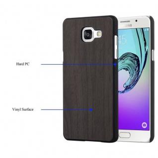 Cadorabo Hülle für Samsung Galaxy A5 2016 in WOODEN SCHWARZ - Handyhülle aus flexiblem TPU Silikon - Silikonhülle Schutzhülle Ultra Slim Soft Back Cover Case Bumper - Vorschau 2